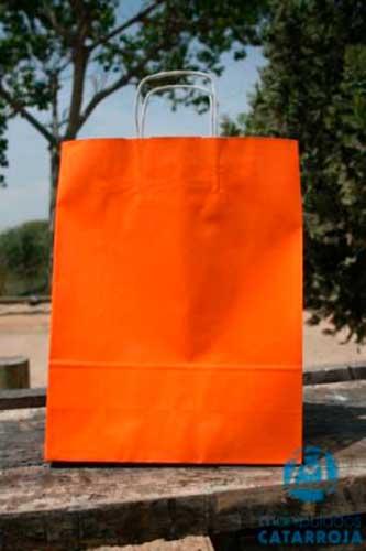 Bolsas Baratas para Comercios Naranja