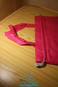 bolsas de tela con detalle en cinta