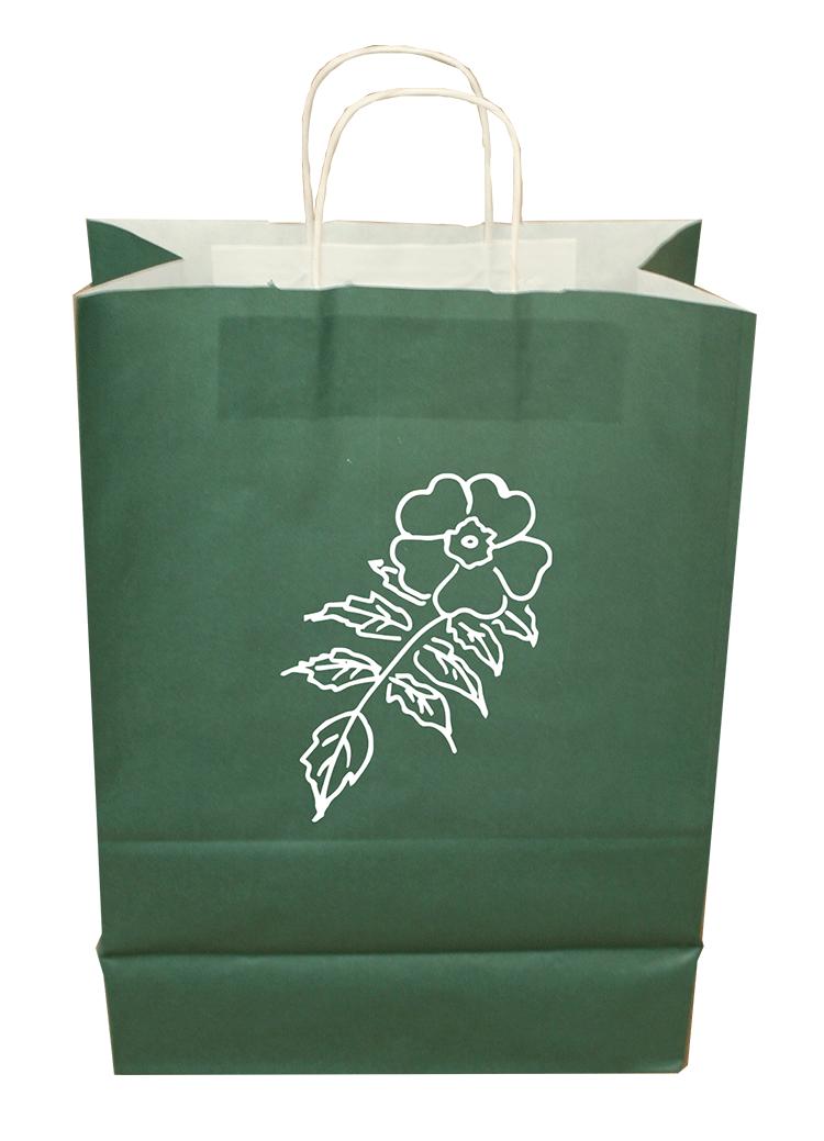 Bolsa Asa Rizada Verde Esmeralda