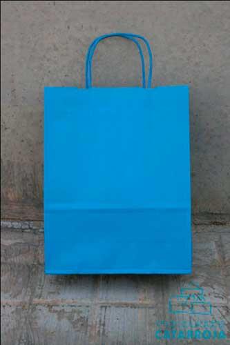 bolsa impresa barata azul