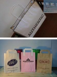 bolsas papel baratas blanca y colores