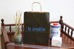 Bolsas para comercio baratas asa rizada impresa con logotipo
