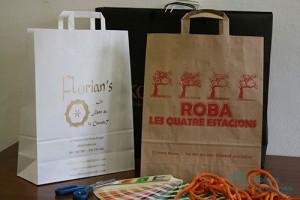 Bolsas para comercio baratas diferentes colores