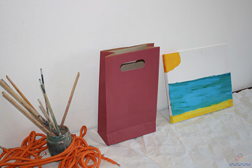 bolsas de papel baratas granate