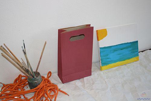 bolsas de papel baratas asa troquelada