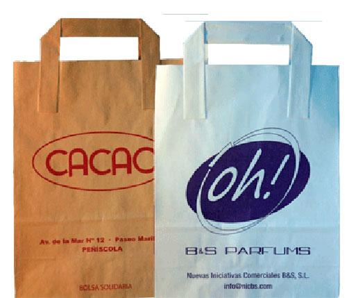 bolsas de papel serigrafiadas baratas 1