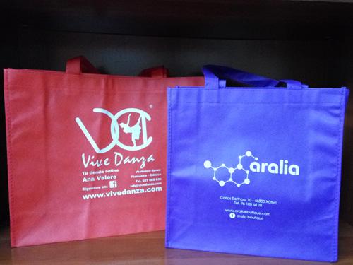 bolsas para tiendas baratas de tela
