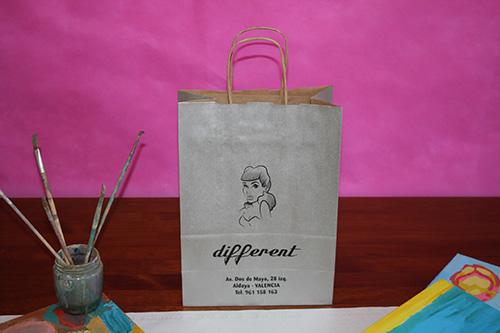 bolsas de papel baratas en barcelona asa rizada