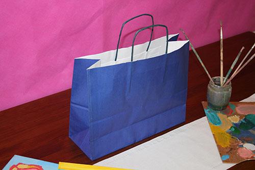 bolsas de papel baratas en barcelona color azul