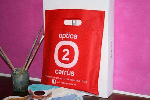 bolsas de tela baratas en barcelona rojas