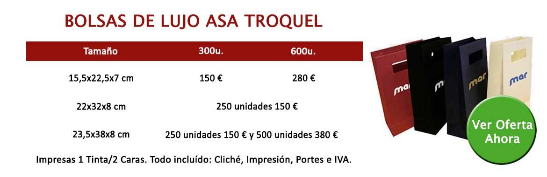 BOLSAS DE LUJO ASA TROQUEL