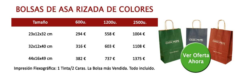 BOLSAS DE ASA RIZADA COLORES