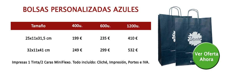 BOLSAS PERSONALIZADAS AZULES