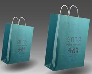 Bolsas Asa rizada color Cyan