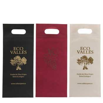 bolsas para botella de vino + asa troquel