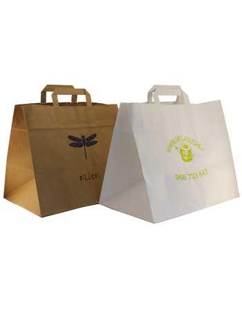 bolsas de alimentación + kraft blanco