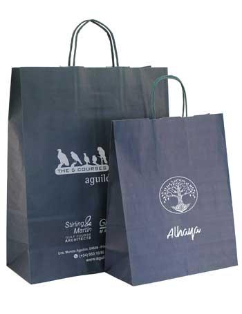 bolsas de papel + asa rizada