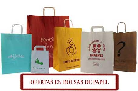 bolsas de papel económicas + menu