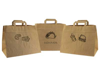 bolsas take away + asa plana interior